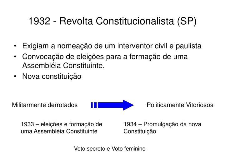 1932 revolta constitucionalista sp