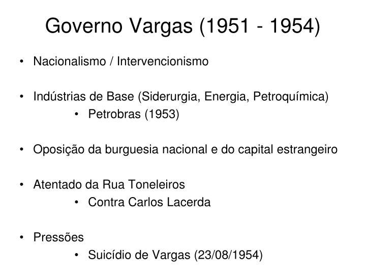 Governo Vargas (1951 - 1954)