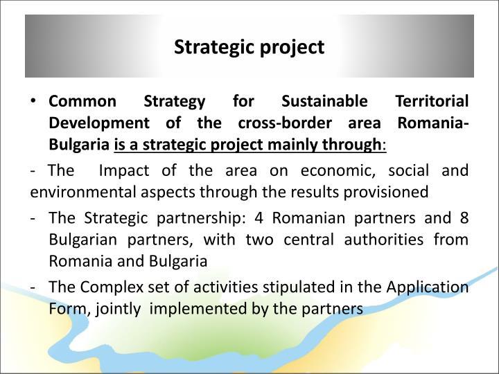 Strategic project