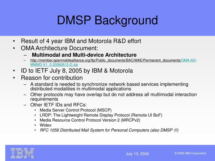 Dmsp background