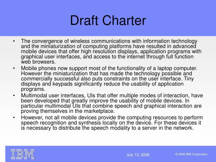 Draft Charter