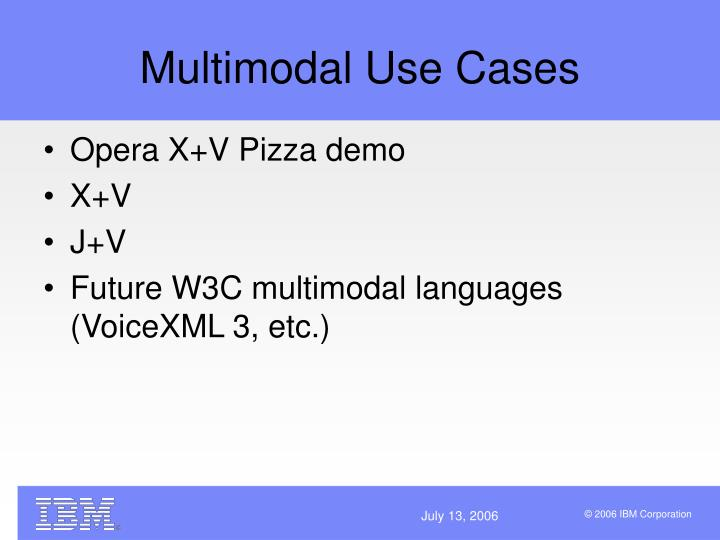 Multimodal Use Cases