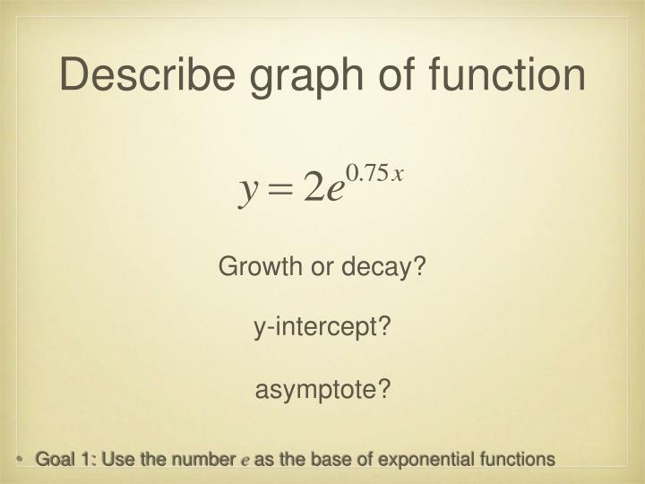 Describe graph of function
