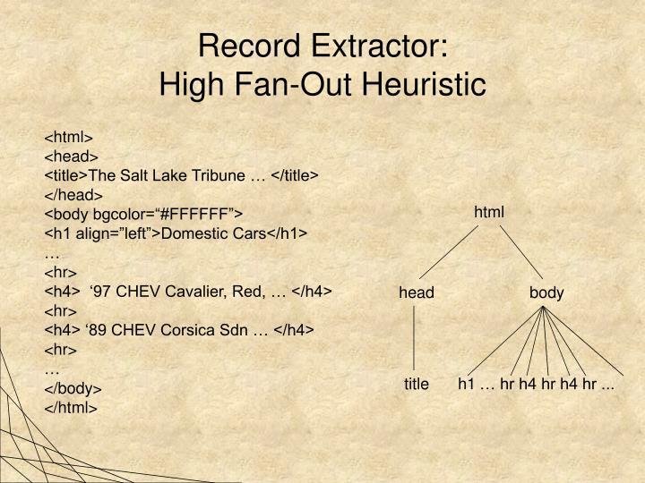 Record Extractor:
