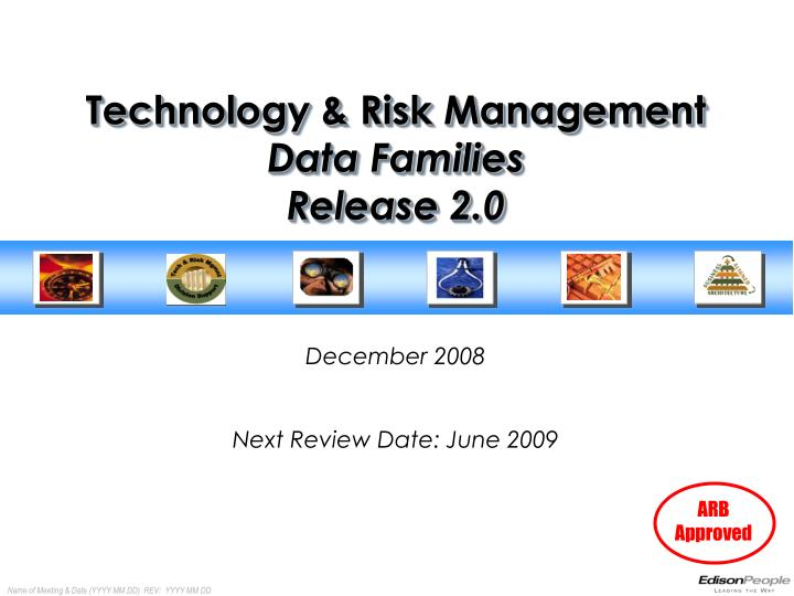 technology risk management data families release 2 0