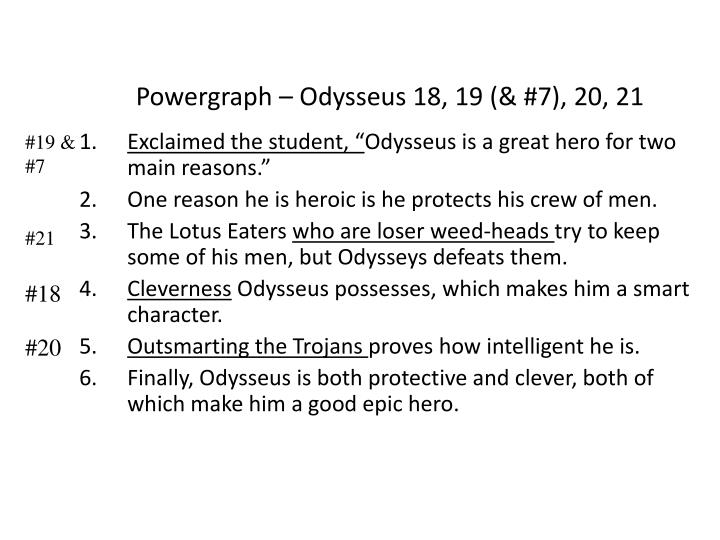Powergraph – Odysseus 18, 19 (& #7), 20, 21