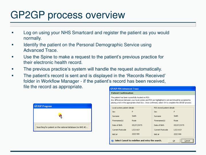 GP2GP process overview