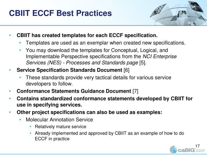 CBIIT ECCF Best Practices