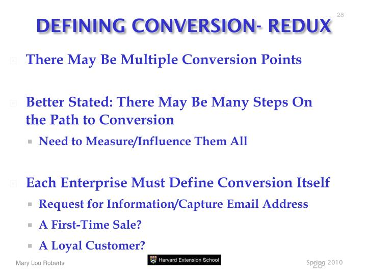 DEFINING CONVERSION- REDUX