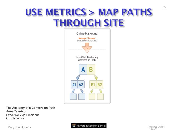 USE METRICS > MAP PATHS THROUGH SITE
