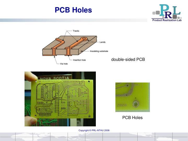 Pcb holes
