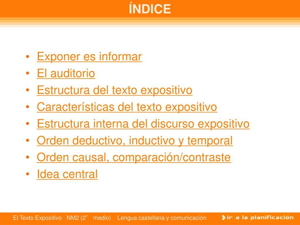 Ppt El Discurso Expositivo Powerpoint Presentation Free