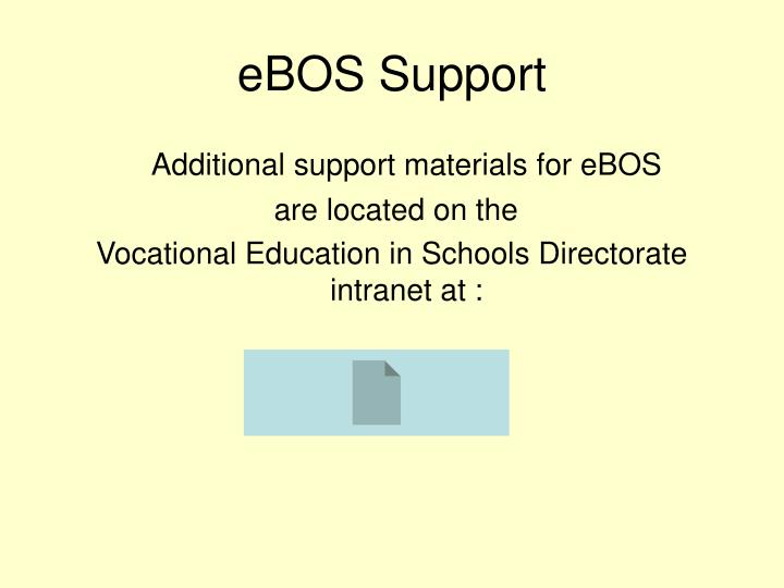 eBOS Support