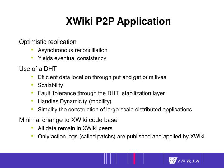 XWiki P2P Application