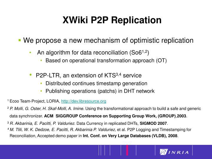 XWiki P2P Replication