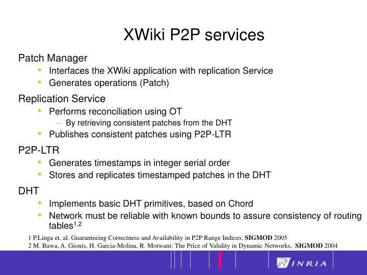 XWiki P2P services