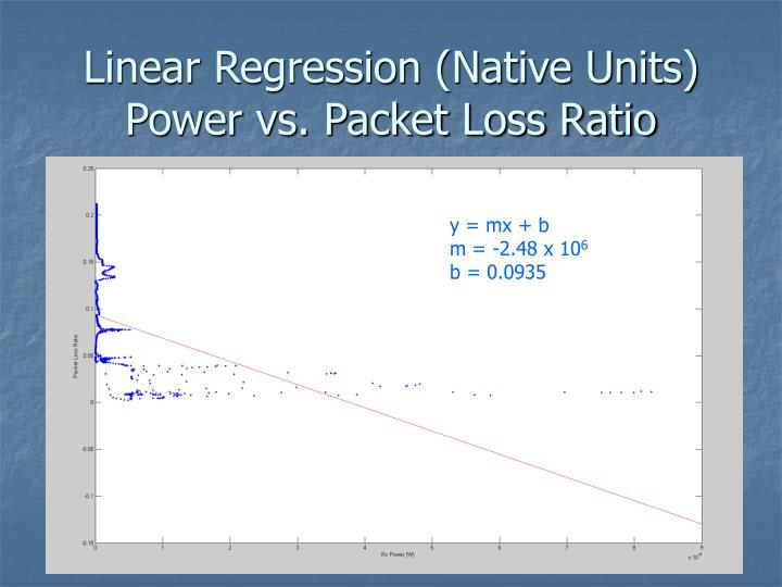 Linear Regression (Native Units)