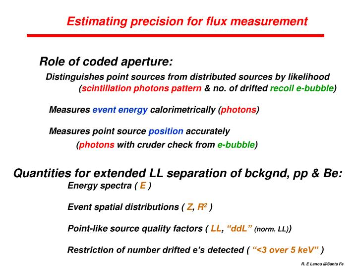 Estimating precision for flux measurement
