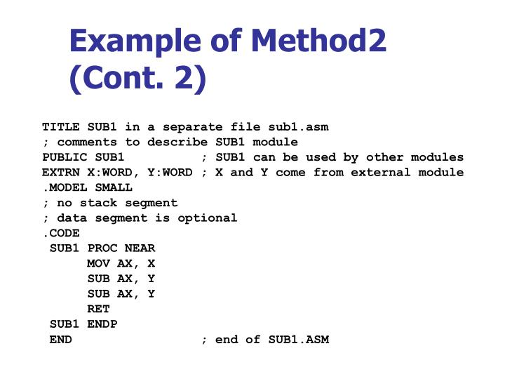 Example of Method2 (Cont. 2)