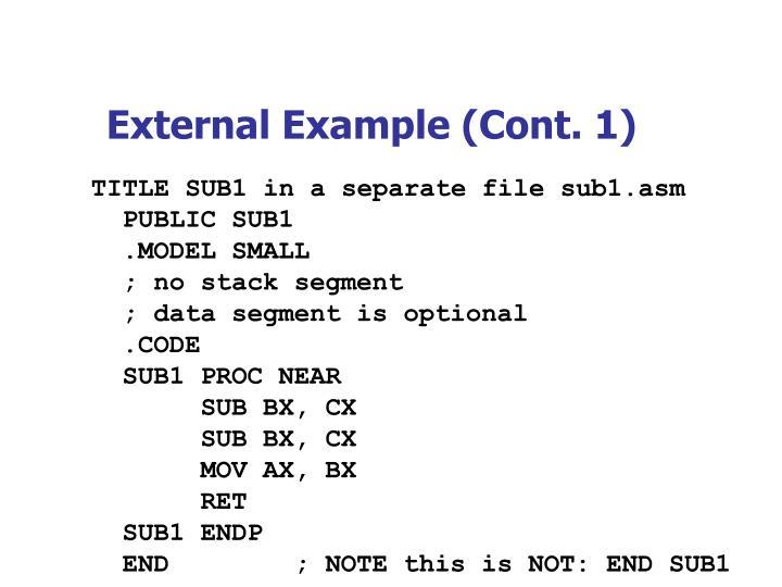 External Example (Cont. 1)