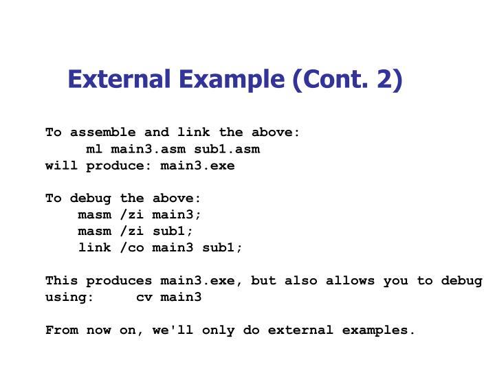 External Example (Cont. 2)