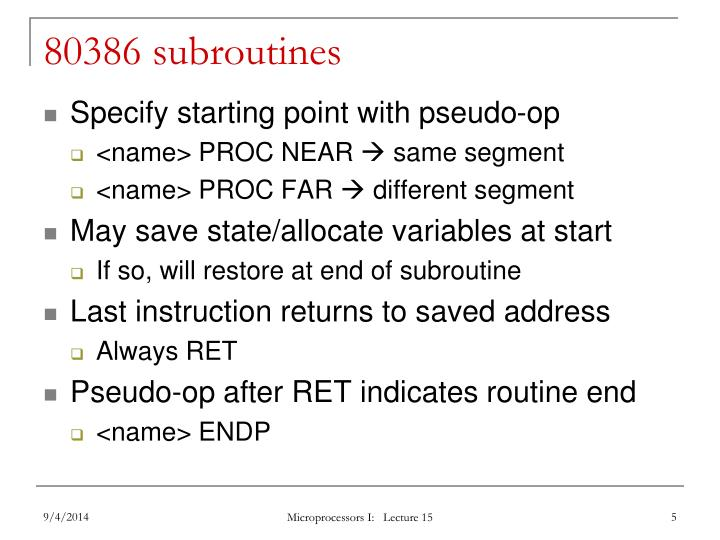 80386 subroutines