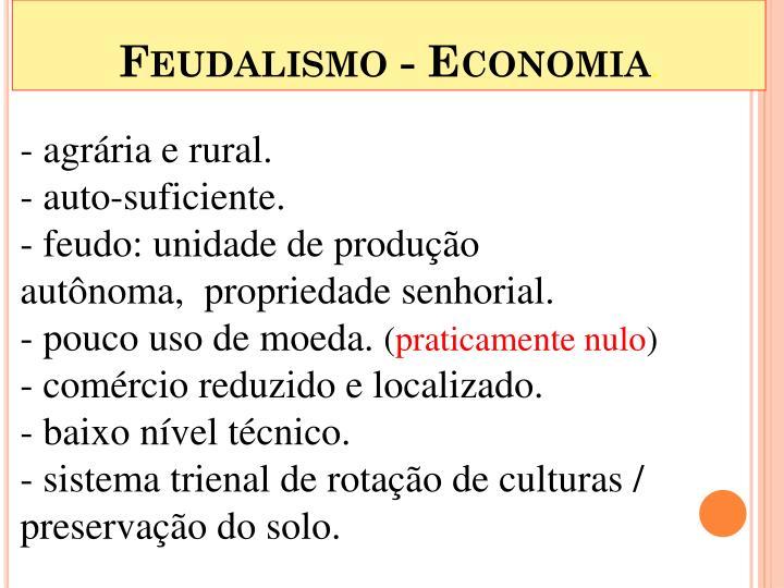 Feudalismo - Economia