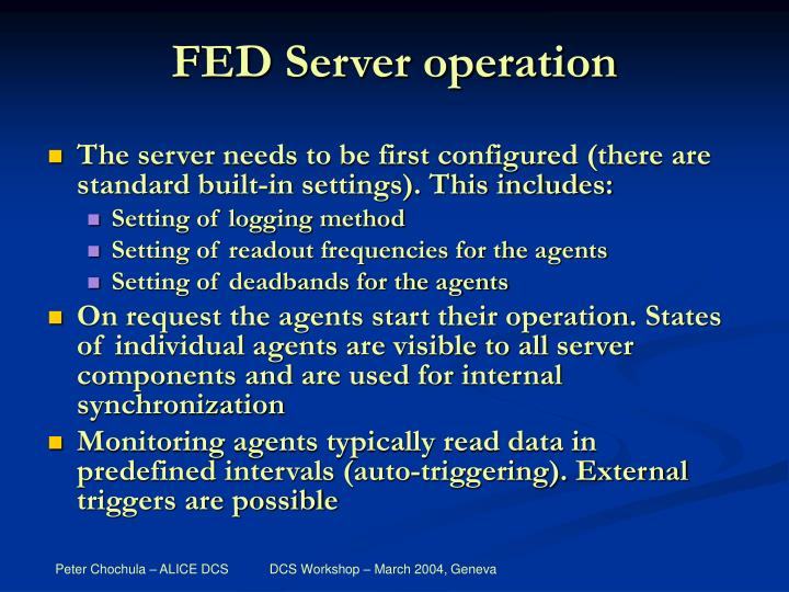 FED Server operation