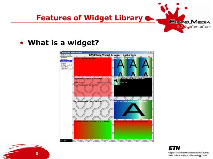 What is a widget?