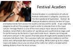 festival acadien