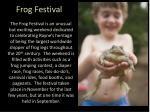 frog festival