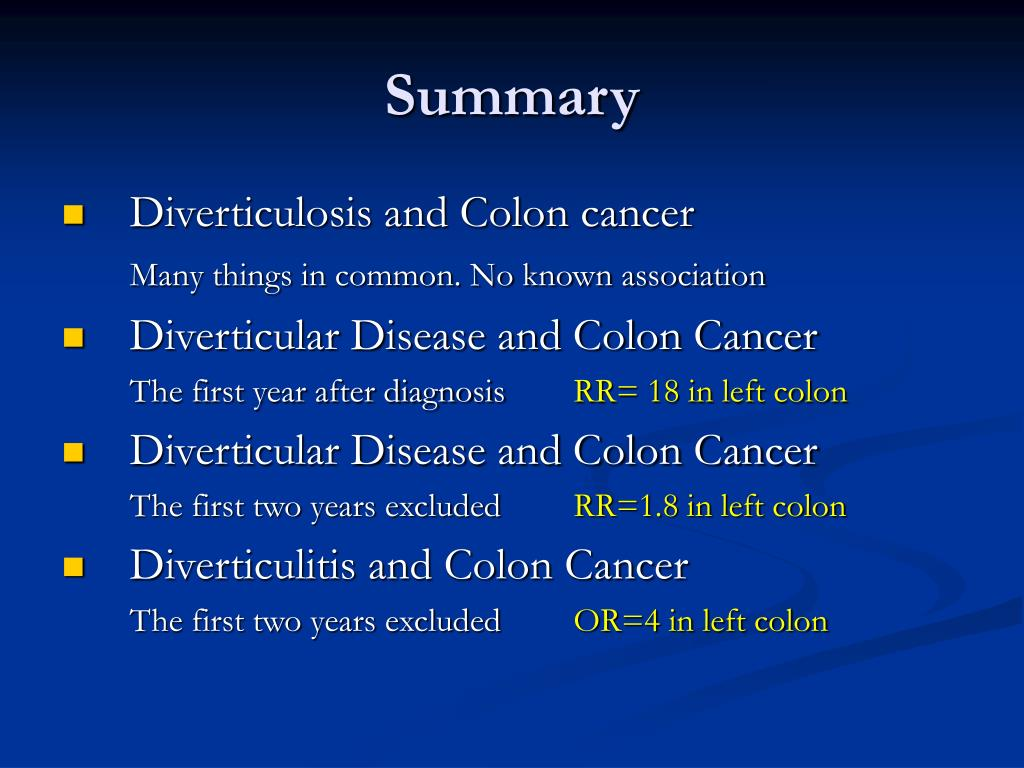 Ppt Diverticular Disease Genetics And Correlation To Cancer Powerpoint Presentation Id 3895254