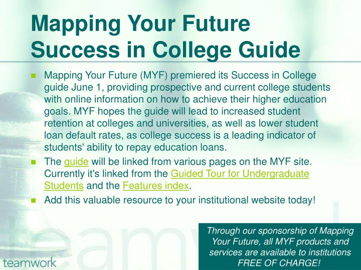 Mapping Your Future Success in College Guide