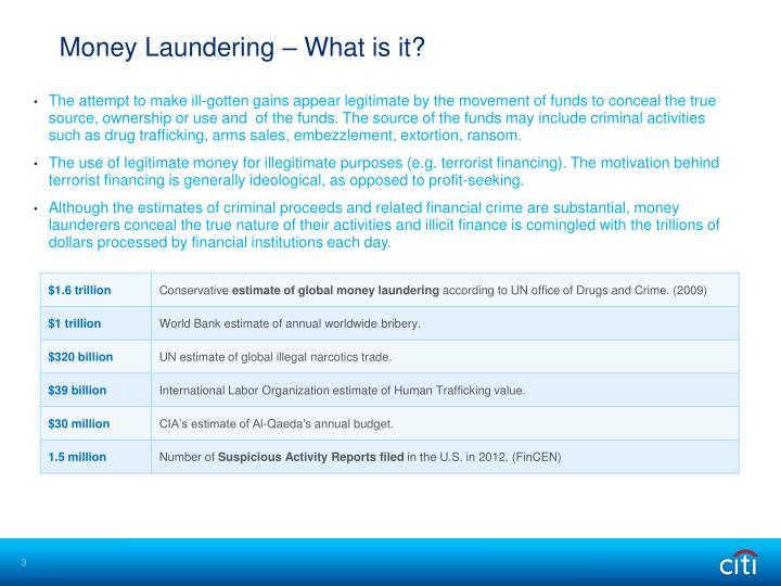 Money Laundering – What is it?