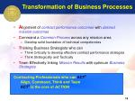 transformation of business processes