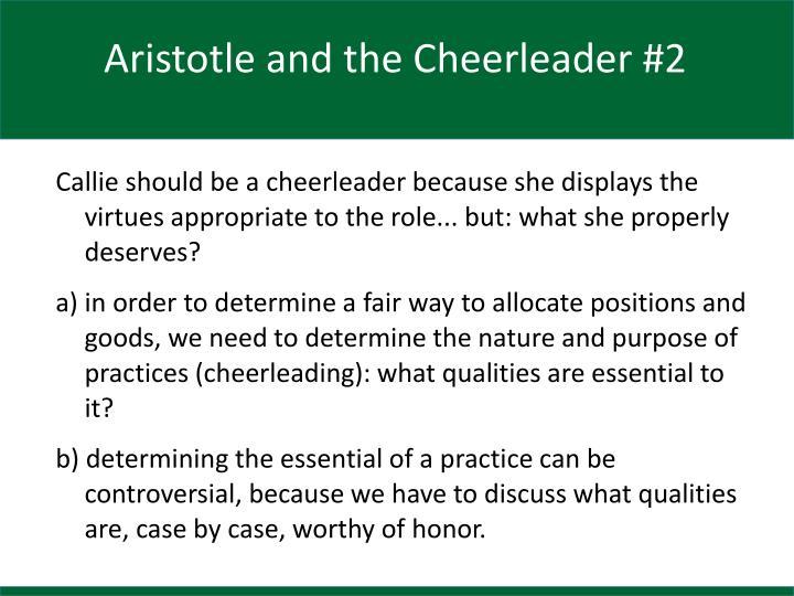 Aristotle and the Cheerleader #2