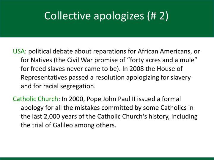 Collective apologizes (# 2)