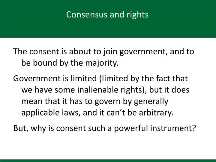 Consensus and rights