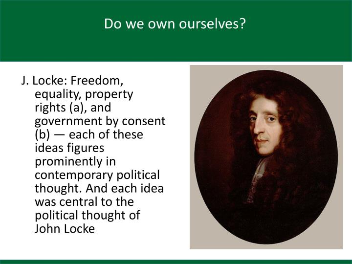 Do we own ourselves?