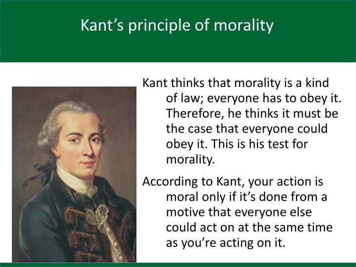 Kant's principle of morality