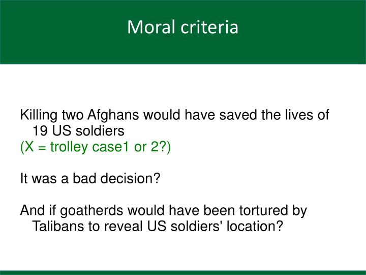 Killing two Afghans would have saved the lives of 19 US soldiers