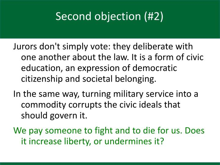 Second objection (#2)