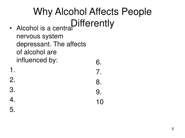 a paper on alcohol as central nervous system depressant Alcohol is a depressant which is a class of drugs that inhibit the function of the central nervous system (cns) in doing so both physical and.