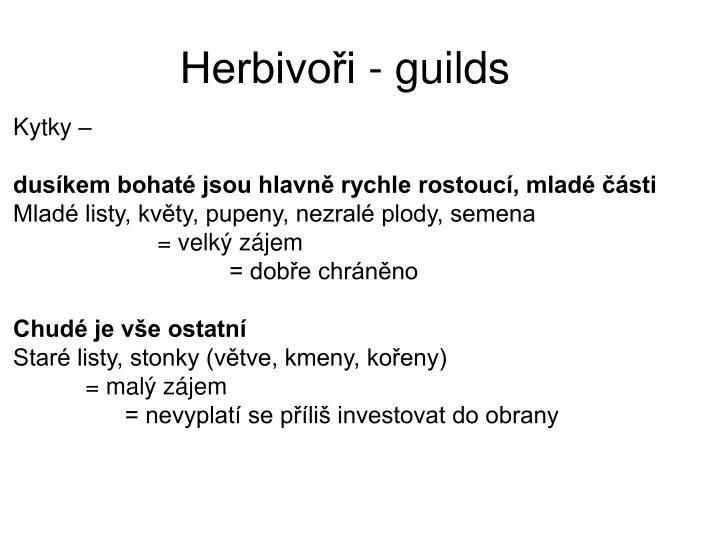 Herbivoři - guilds