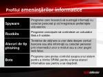 profilul amenin rilor informatice