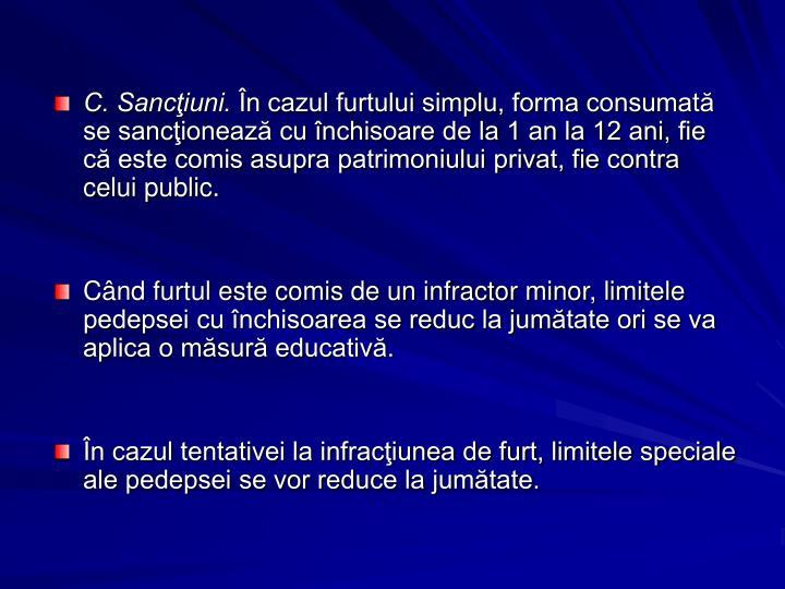 C. Sancţiuni.
