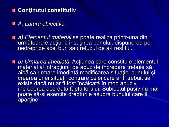 Conţinutul constitutiv