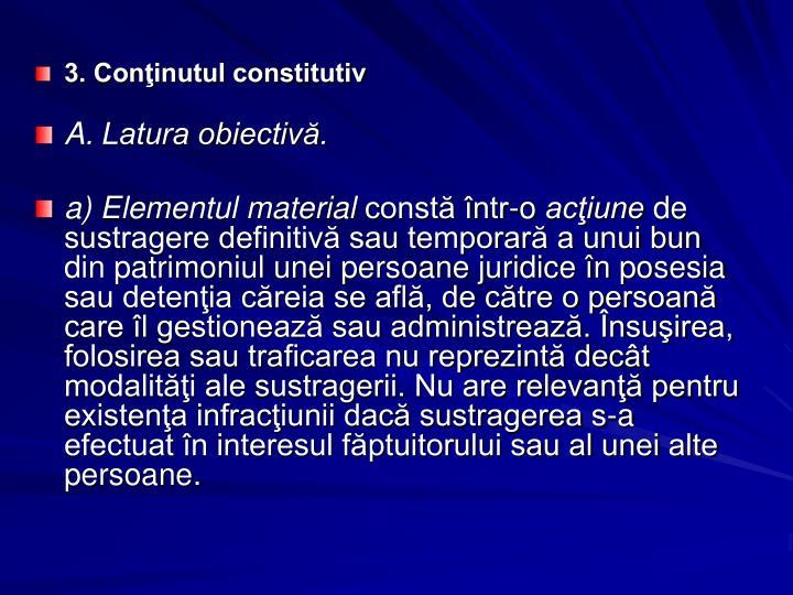3. Conţinutul constitutiv