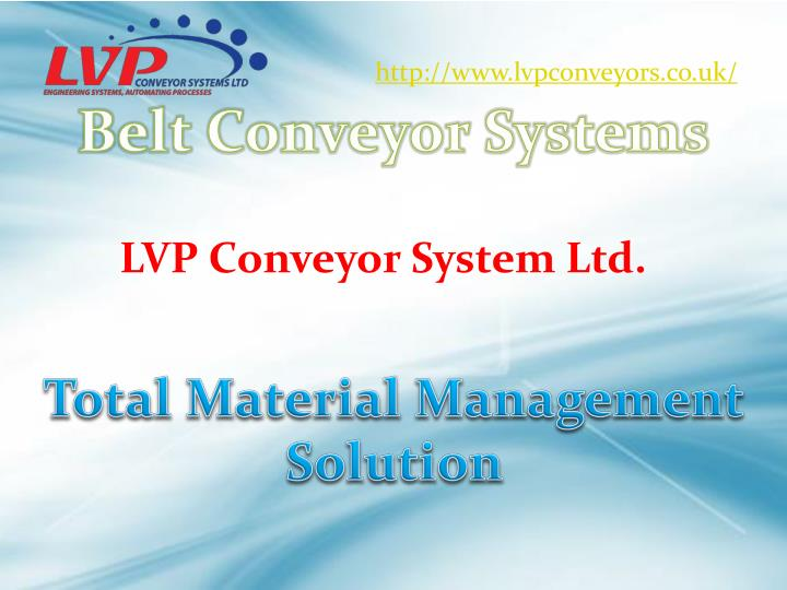 Ppt Conveyor Systems Advance And Complete Product Handling Sol Powerpoint Presentation Id 3896153