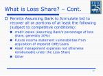 what is loss share cont